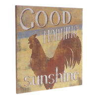 Good Morning Sunshine Rooster Wooden Sign Country Home Wall Table Decoration