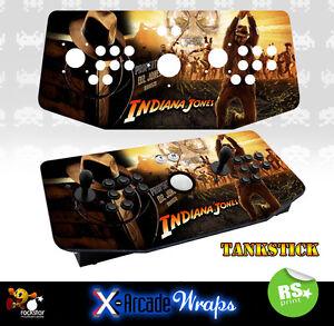 Indiana Jones X Arcade Tankstick Overlay Artwork Graphic Sticker