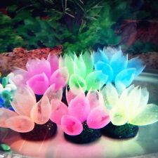 BG_ KQ_ Silicone Glow Artificial Fish Tank Aquarium Corals Bubble Plant Ornament