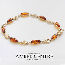 ITALIAN MADE BALTIC AMBER BRACELET IN 9CT GOLD -GBR077  RRP£395!!!