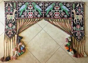 Antique ANATOLIA PICTORIAL Turkoman RUG Door surround ARTS & CRAFT Jallar Paidar