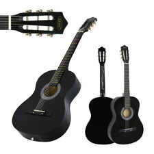 """Acoustic Guitar 38"""" Full Size Adult Black Includes Guitar Pick & Accessories"""