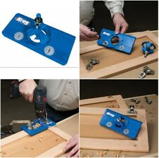Hinge Jig Cabinet Wooden Door Hinges Installation Drill Hole Template Guide Tool
