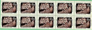 Canada Full Sheet of 10 Seals from the Cerebral Palsy Committee.  1960. MNH