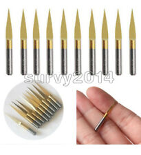 10pcs 3.175mm Carbide PCB Engraving Bits CNC Router Tool 10 Degrees 0.1mm V-Shap