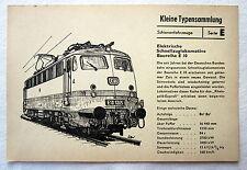 DDR Kleine Typensammlung Schienenfahrzeuge Elektrische Schnellzuglokomotive E 10
