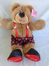 "Valentine Teddy Bear 20"" READY FOR LOVE Brown Plush Stuffed Target 2005 Boy Girl"