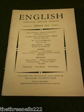 ENGLISH ASSOCIATION - AUTUMN 1959 VOL 12 # 72 - THE WATER BABIES - SLANG