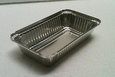 Rectangula Foil Tray For Roasting, BBQ and Baking 100pcs 11 cm x 19 cm x 3.5 cm