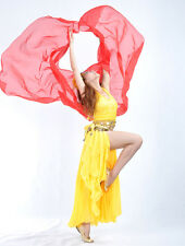 New Belly Dance Costume Gold Trim Chiffon Shawl Veil 250x120cm 13 colors
