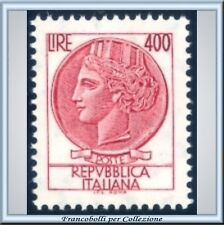 1976 Italia Siracusana L 400 Turrita Fluorescente 1084B