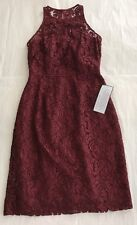NEW J CREW Pamela Leaver Lace Dress # A1743 Bridesmaid Red Dark Wine Size 00