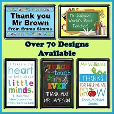 Personalised Teachers Fridge Magnet - Principal, Prep, Day Care - Thank you Gift