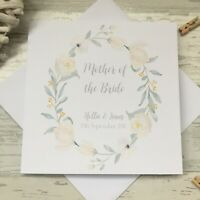 Personalised Thank you Parents of Bride Mother of Bride Groom Wedding Card