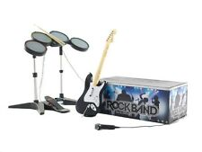 NEW Xbox 360 Rock Band Special Edition Bundle Kit Drums Guitar Game Mic RockBand
