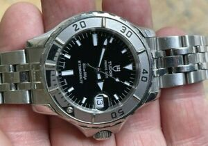 Tudor Prince Date Hydronaut Automatic Stainless Steel Black Dial ref. 85190 Box