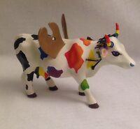 COW PARADE 2003 Mythic Art Goddess Cow Figurine #7292 RETIRED Paintbrushes Multi