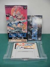 SNES -- GUN FORCE -- Boxed. Super famicom. Japan game. work fully. 12934