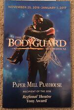 The Bodyguard  Musical Playbill Papermill Playhouse Deborah Cox Whitney Houston