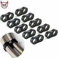 "10Pcs -10AN Hose Separator Clamp Bracket Adapter for 5/8"" Oil Fuel Hose Line"
