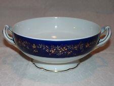 Légumier Bernardaud en porcelaine de Limoges bleu de four et or / Vegetable dish