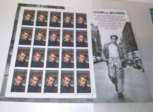 1996 James Dean 32c Legends of Hollywood Full Mint Sheet MNH US Stamps