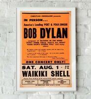 0434 Vintage Music Poster Art Bob Dylan