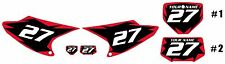 2008-2014 HONDA CRF230F Number Plate Backgrounds Black with Red Shock Series