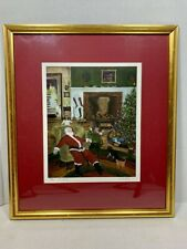 WILL MOSES 40 Winks - Framed Santa / Christmas Lithograph Print - #350/500