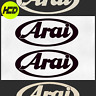 Reflective Black ARAI Premium Safety Motorcycle Helmet Stickers Hi Viz Graphics