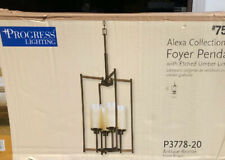 PROGRESS LIGHTING ALEXA COLLECTION 4-LIGHT ANTIQUE BRONZE FOYER PENDANT NIB