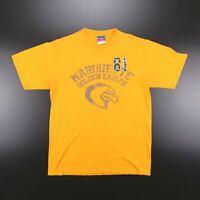 CHAMPION Golden Eagles Yellow American Short Sleeve T-Shirt Mens L