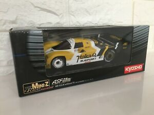 OLD Rare Kyosho MINI-Z Racer Body&Chassis Set Porsche 962 C #7 From Japan F/S