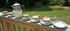 Old Kawa Japan Lidded Coffee Tea Set Pot Stoneware Ceramic Pottery Vintage Cups