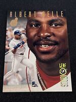 1996 Leaf STUDIO Baseball ALBERT BELLE GOLD PRESS PROOF, NM-MT, #d 500, Indians