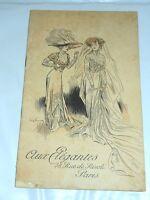 Catalogo Moda Abiti femminili - Aux Elegantes - A. Carteret - Paris - 1910 ca.