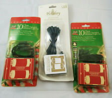 3x Clear Battery Operated Christmas Lights 10ct Indoor