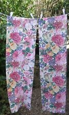 Sanderson Rose & Peony fabric.  Two fat strips. Used/washed/perfect.