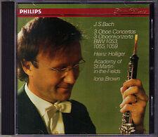 Heinz Holliger: Bach 3 Hautbois concertos BWV 1053 1055 1059 Iona Brown St Martin CD