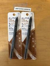 2 Almay Intense I-Color Gel Smooth Liner for Brown Eyes #031 Black