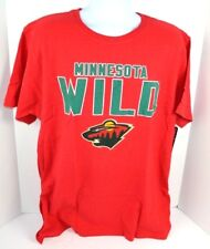 NHL Minnesota Wild MENS Touchback Slub Textured Jersey T-Shirt, Red XL