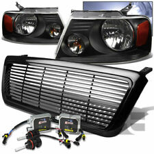 FOR 04-08 FORD F150 BLACK GRILLE+HOUSING HEADLIGHTS+10000K HID KIT+BULBS+BALLAST