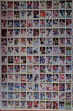 "1991-92 OPC O-Pee-Chee Premier 132 Hockey Cards UNCUT Sheet 42.5""x28.5"" EXMT B1"
