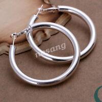 Fashion Women 925 Sterling Silver Huggie Hoop Drop Dangle Earrings Jewelry Gift