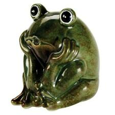 Handcrafted Ceramic Frog Spitter Pond Water Fountain Decorative Aeration Units