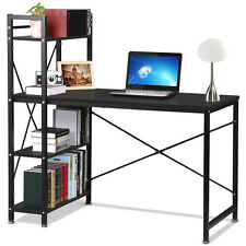 Computer Desk Table w Storage Shelving book shelf study Home Office Steel Frame