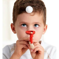 1PC*Kids Wooden Education Games Floating Ball Blow Pipe & Balls Blowing Toys#