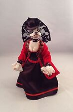 Handmade Miniature Porcelain Boston Terrier Doll, LuLu's Zoo,1:12