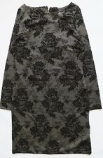 Next Women`s Dress Mettalic Jacquard Long Sleeve Size 14