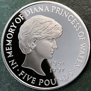 'In Memory Of Diana Princess Of Wales', A Superb Proof 1999 Five Pound, £5 Coin.